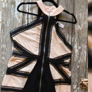 high Collared Midi Dress